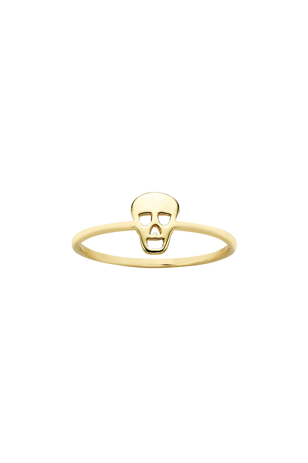 Mini Skull Ring Gold