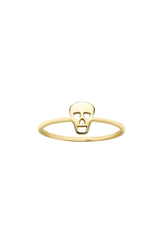 Mini Skull Ring Gold