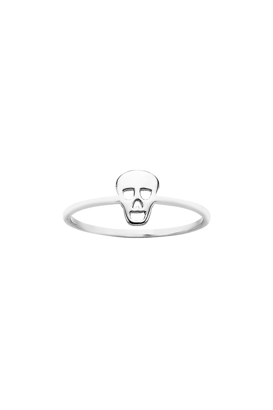 Mini Skull Ring Silver