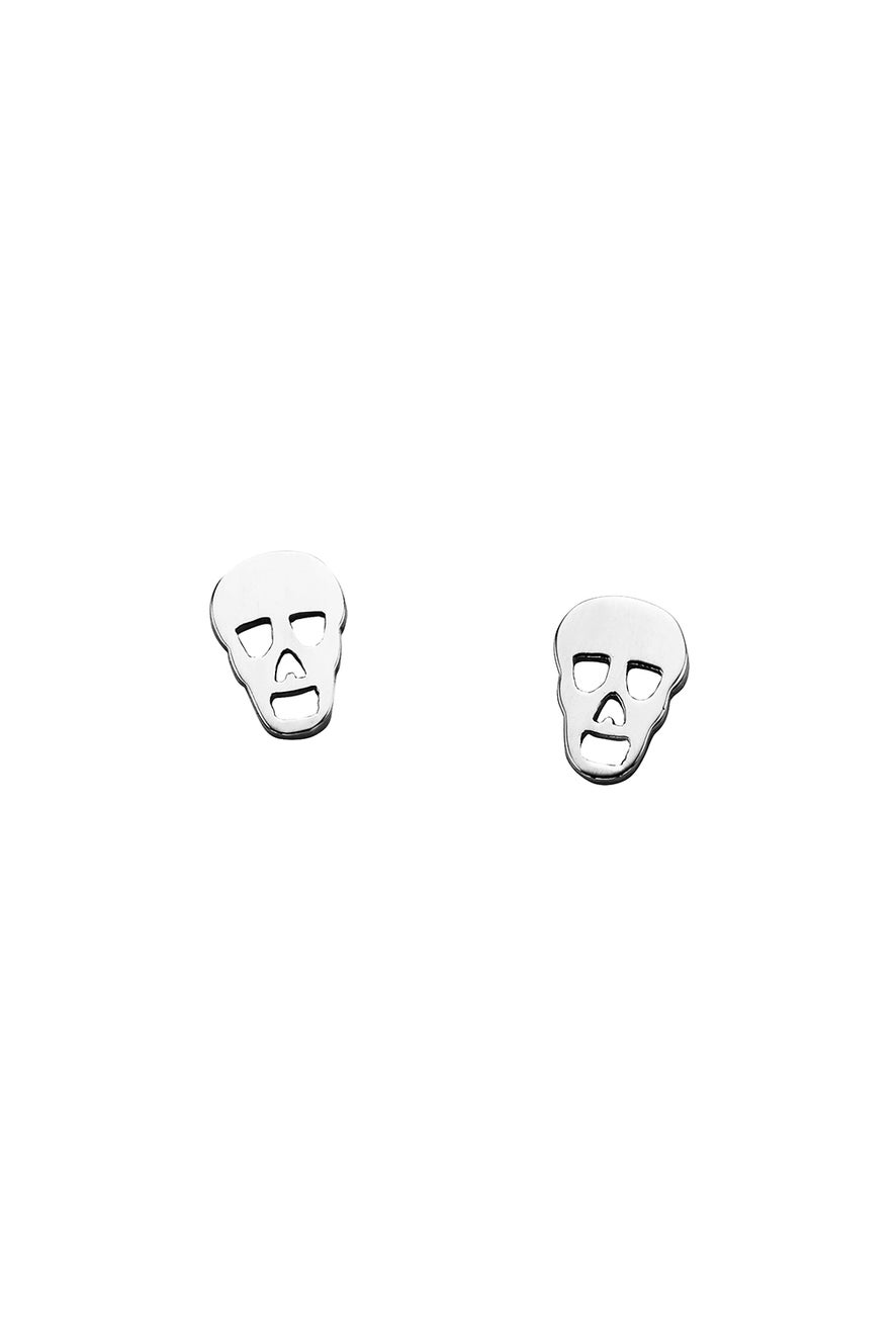 Mini Skull Studs Silver