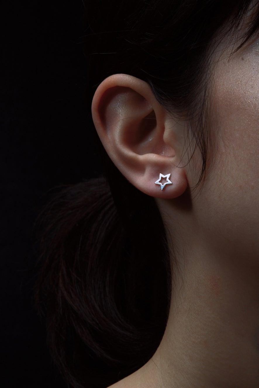 Mini Star Studs Silver