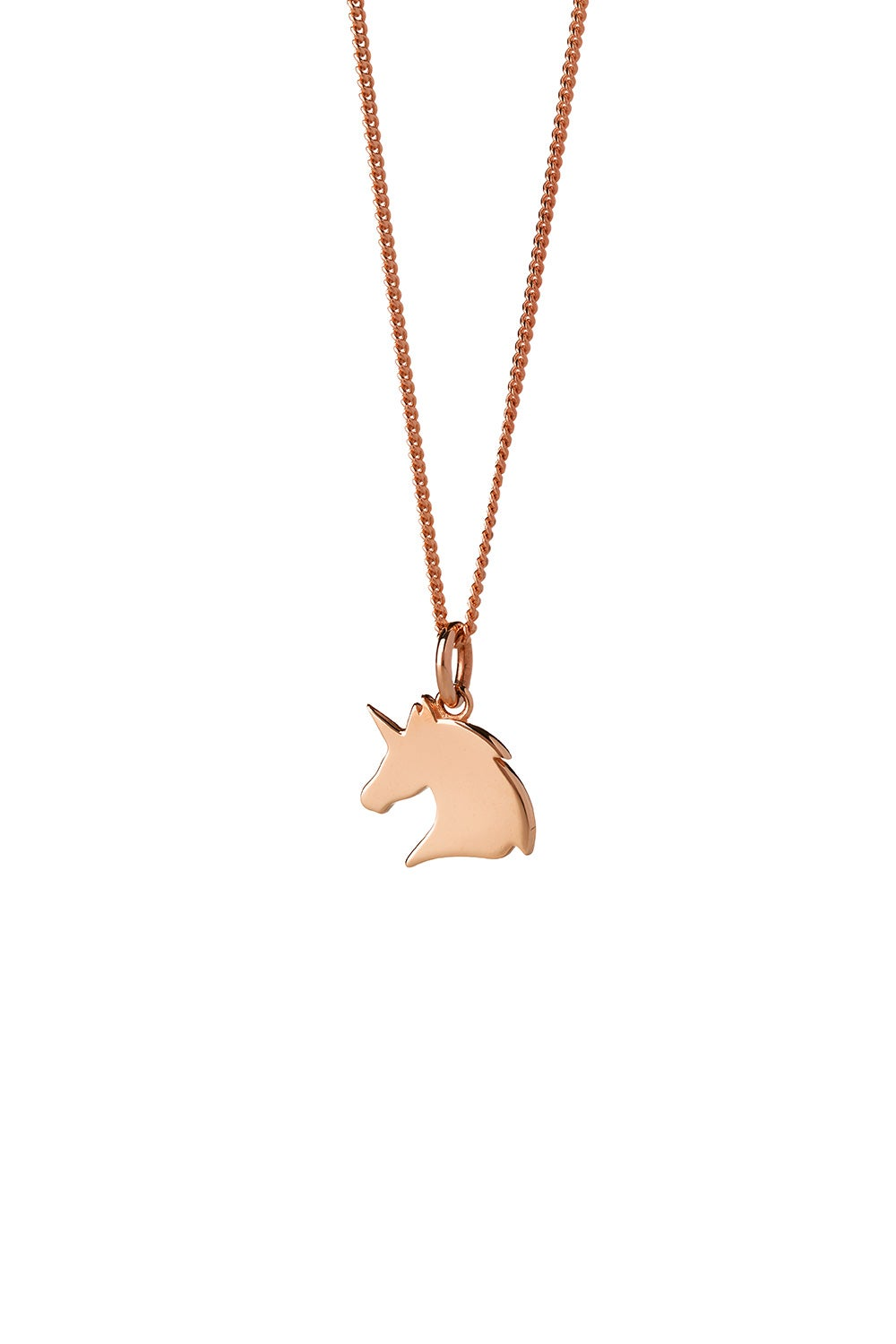 Mini Unicorn Necklace Rose Gold