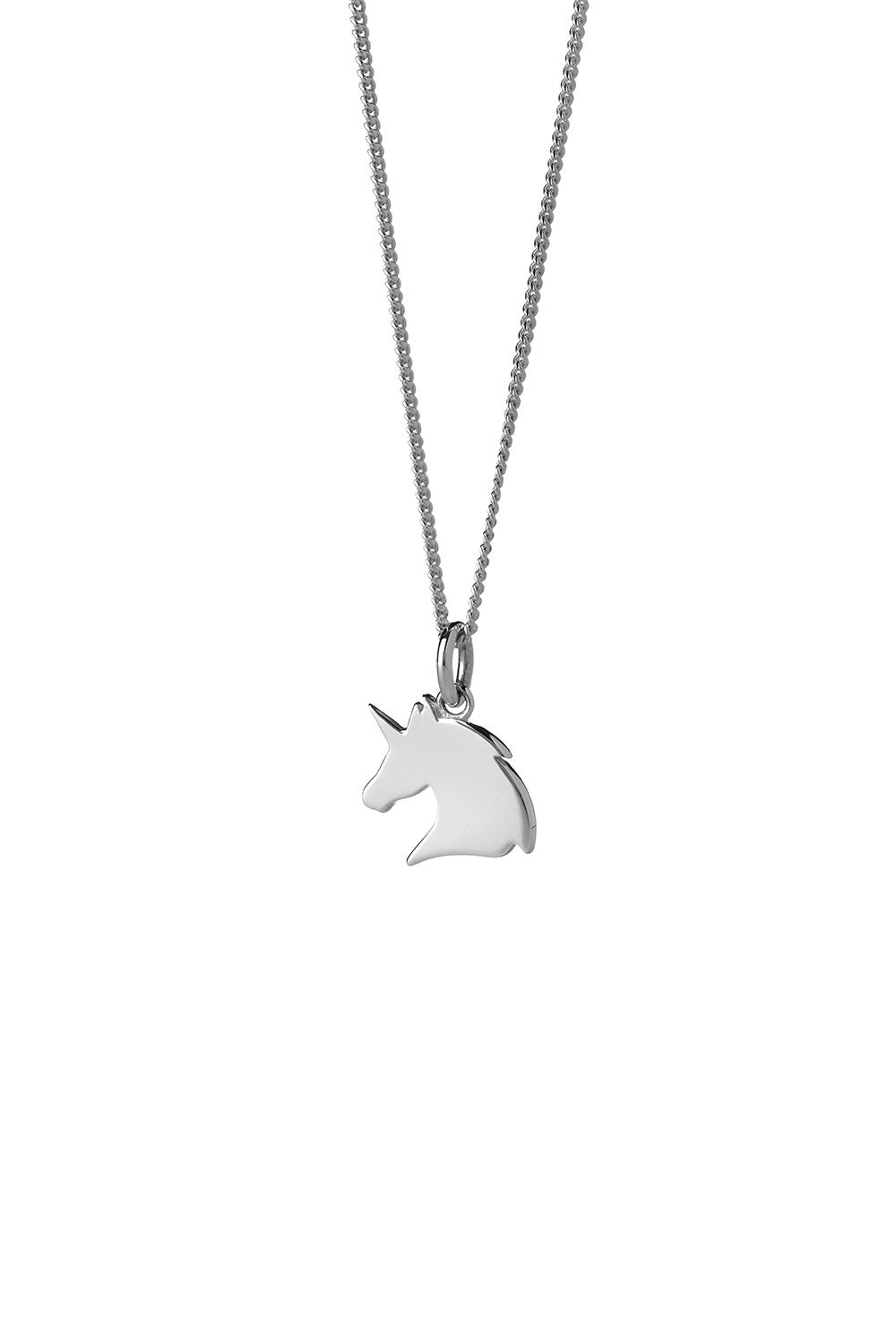 Mini Unicorn Necklace Silver