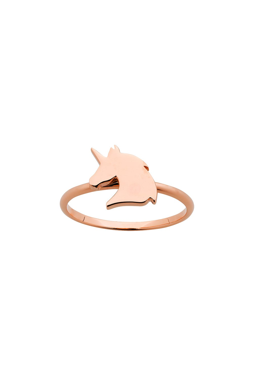 Mini Unicorn Ring Rose Gold