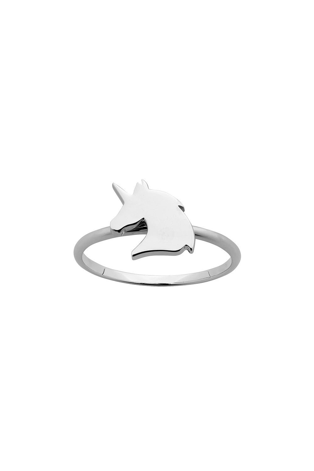 Mini Unicorn Ring Silver
