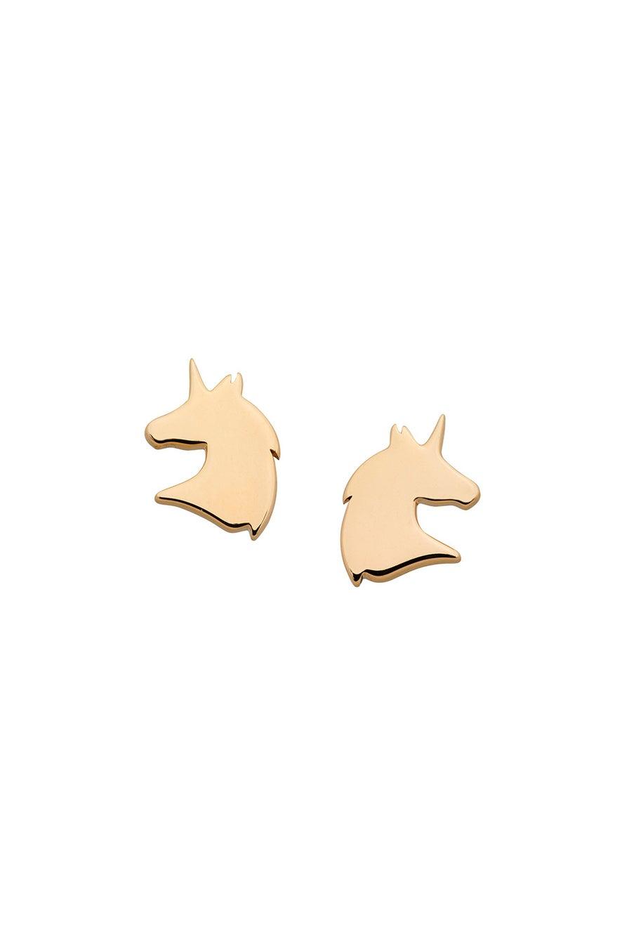 Mini Unicorn Studs Gold
