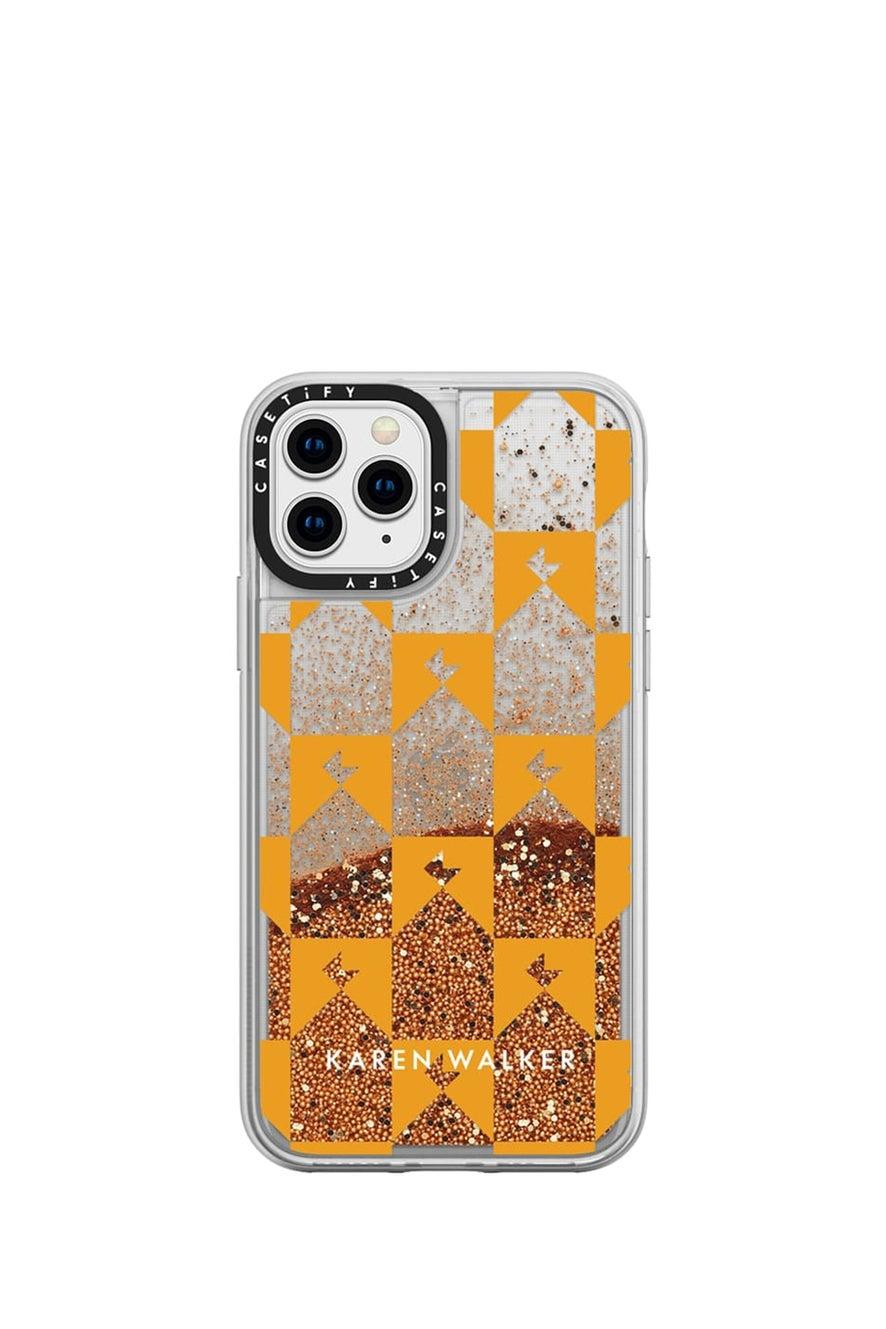 Monogram iPhone Case Gold