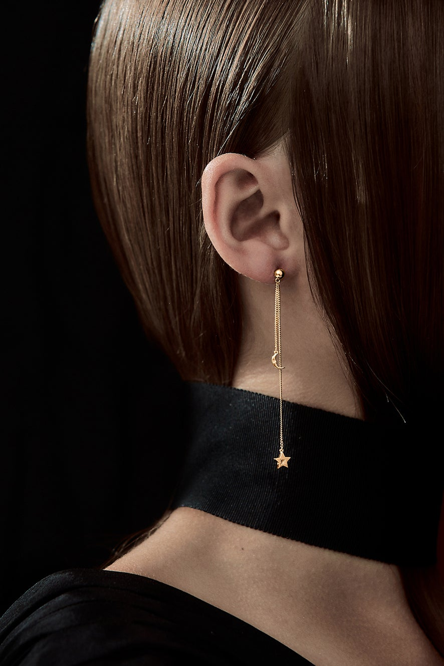 Moon and Star Pendulum Gold
