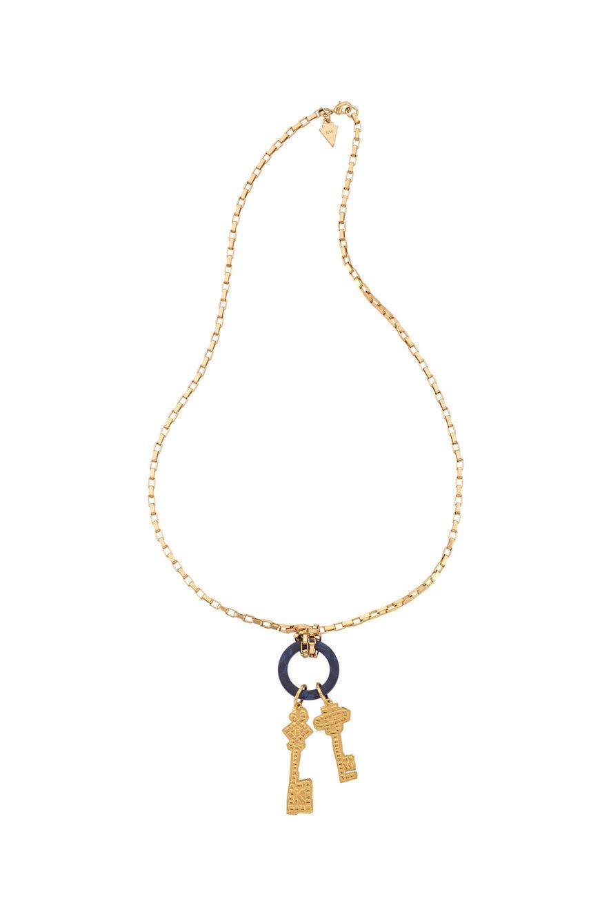 Mosaic Key Necklace
