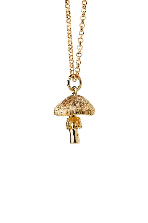 Mushroom Necklace Gold
