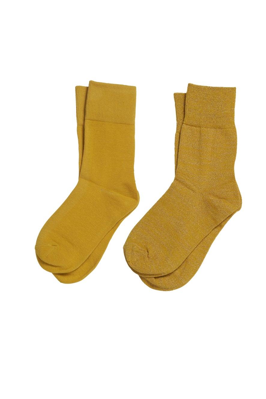 Mustard Socks 2 Pack