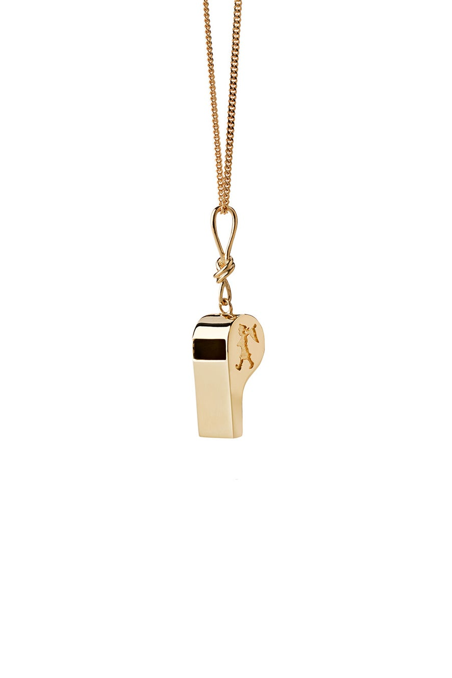 Navigator's Whistle Necklace Gold