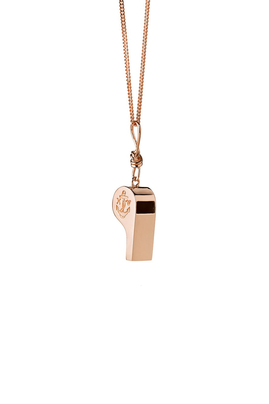 Navigator's Whistle Necklace Rose Gold