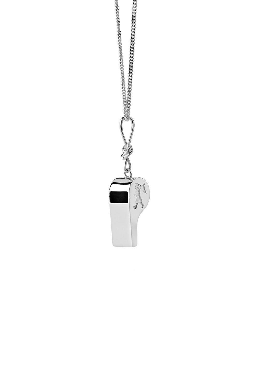 Navigator's Whistle Necklace Silver