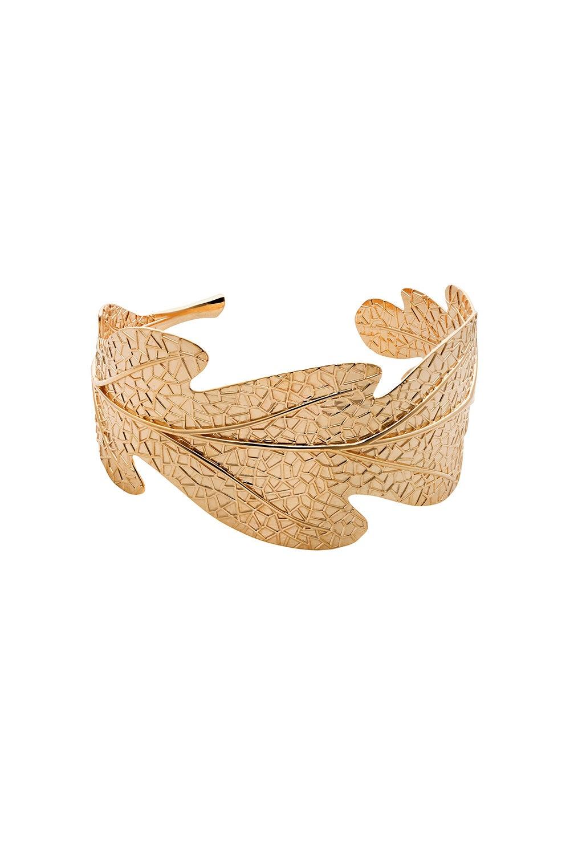 Oak Leaf Cuff Gold