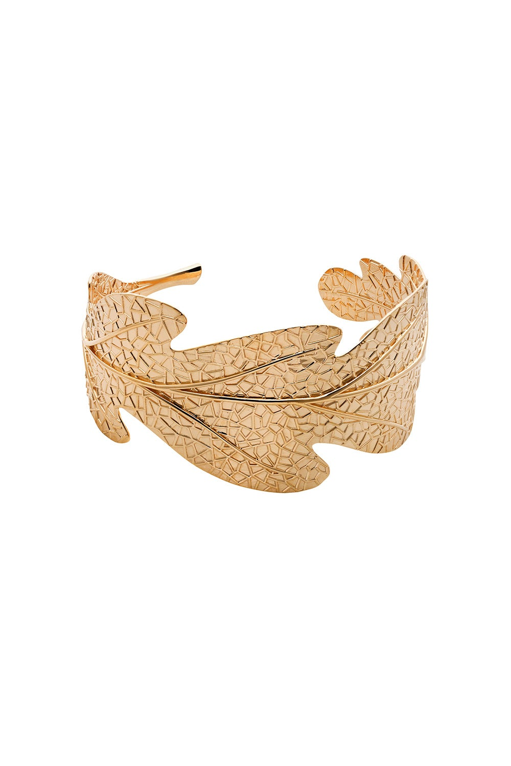 Oak Leaf Cuff Gold-Plated
