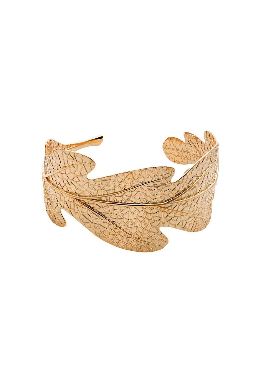 Oak Leaf Cuff Gold-Plated