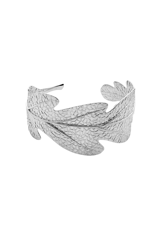 Oak Leaf Cuff Silver
