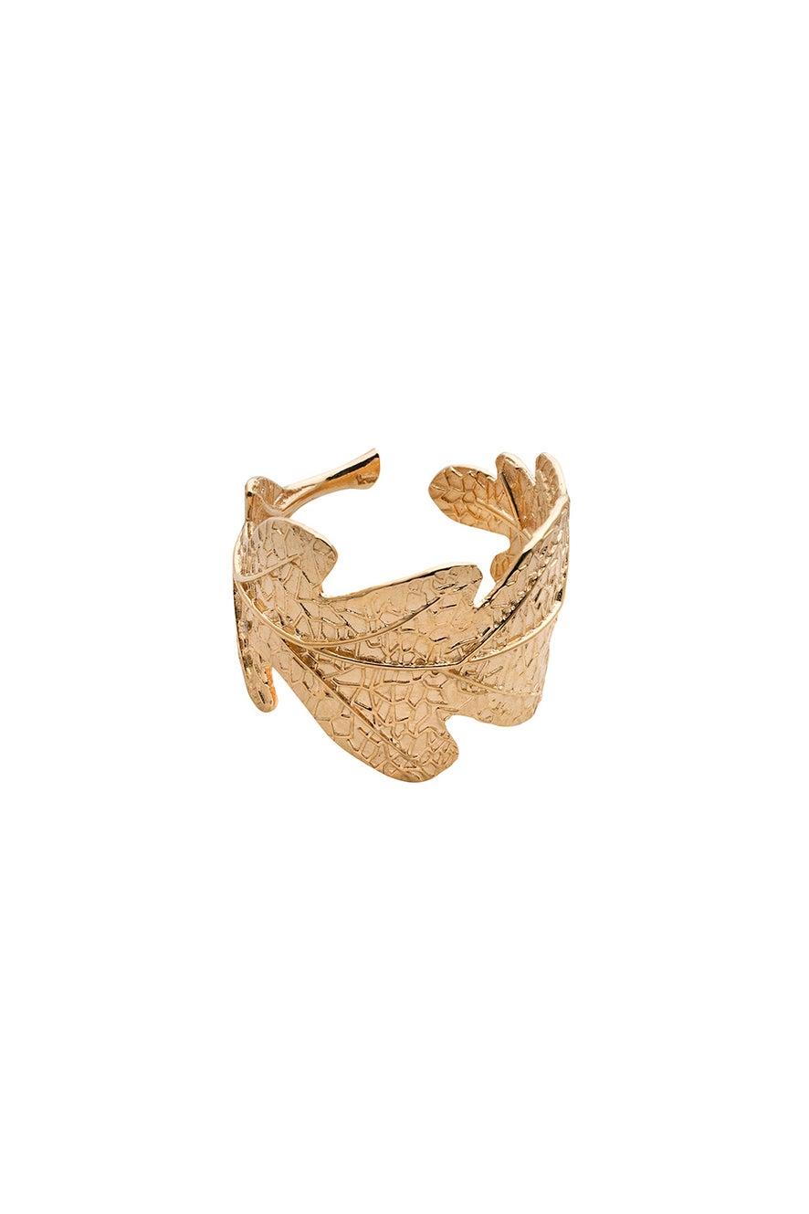 Oak Leaf Ring Gold