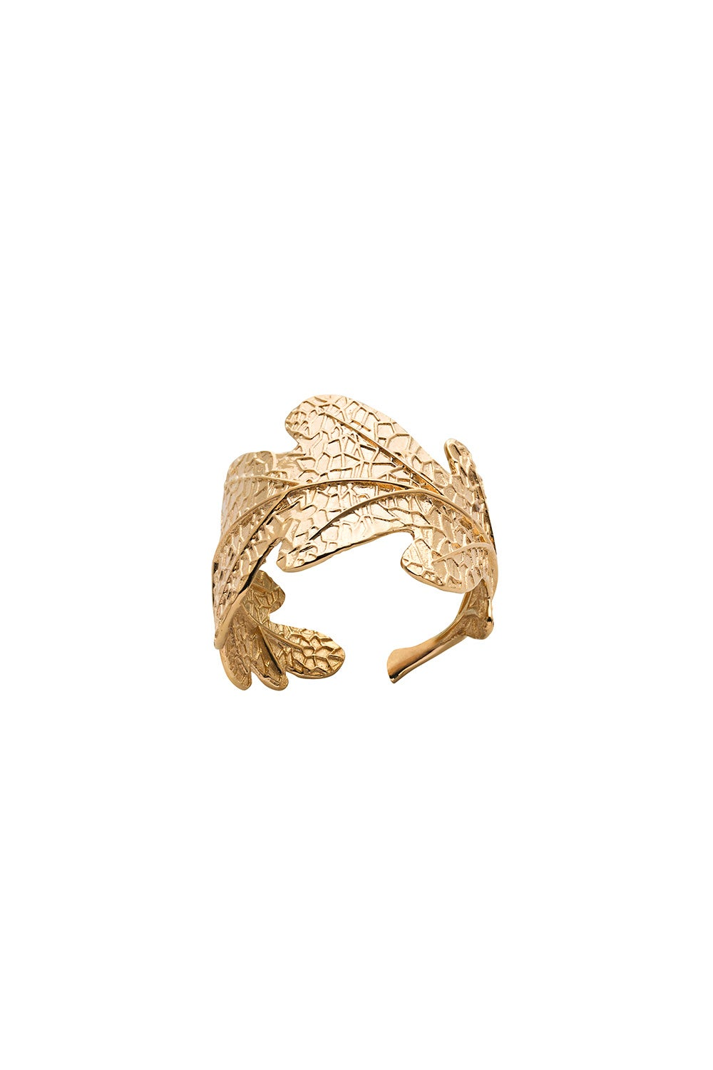 Oak Leaf Ring Gold