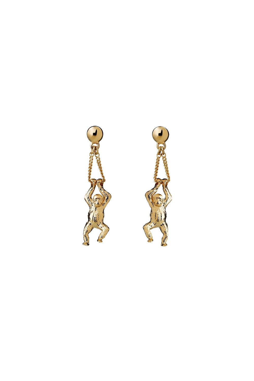 Orangutan Earrings Gold