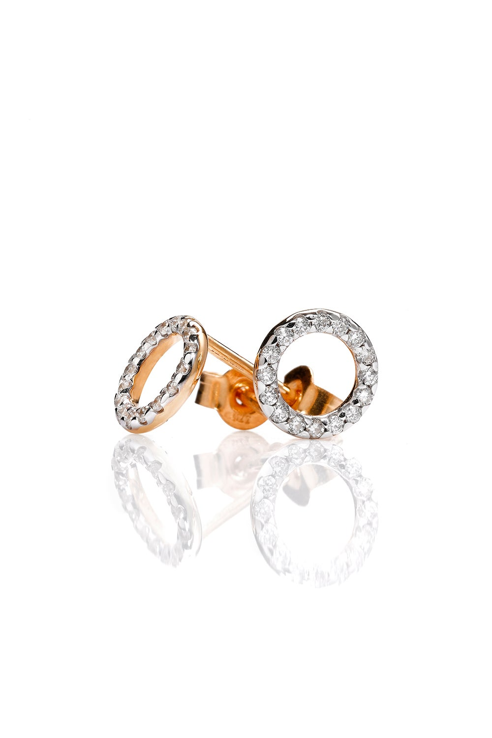 Orbit Diamond Earrings, 9ct Gold, .21ct Diamond