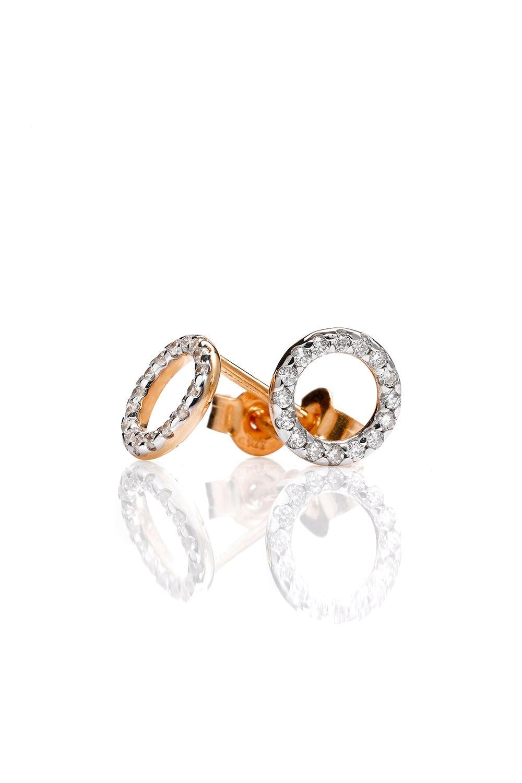 Orbit Diamond Earrings, 9ct Gold, .21ct Diamond