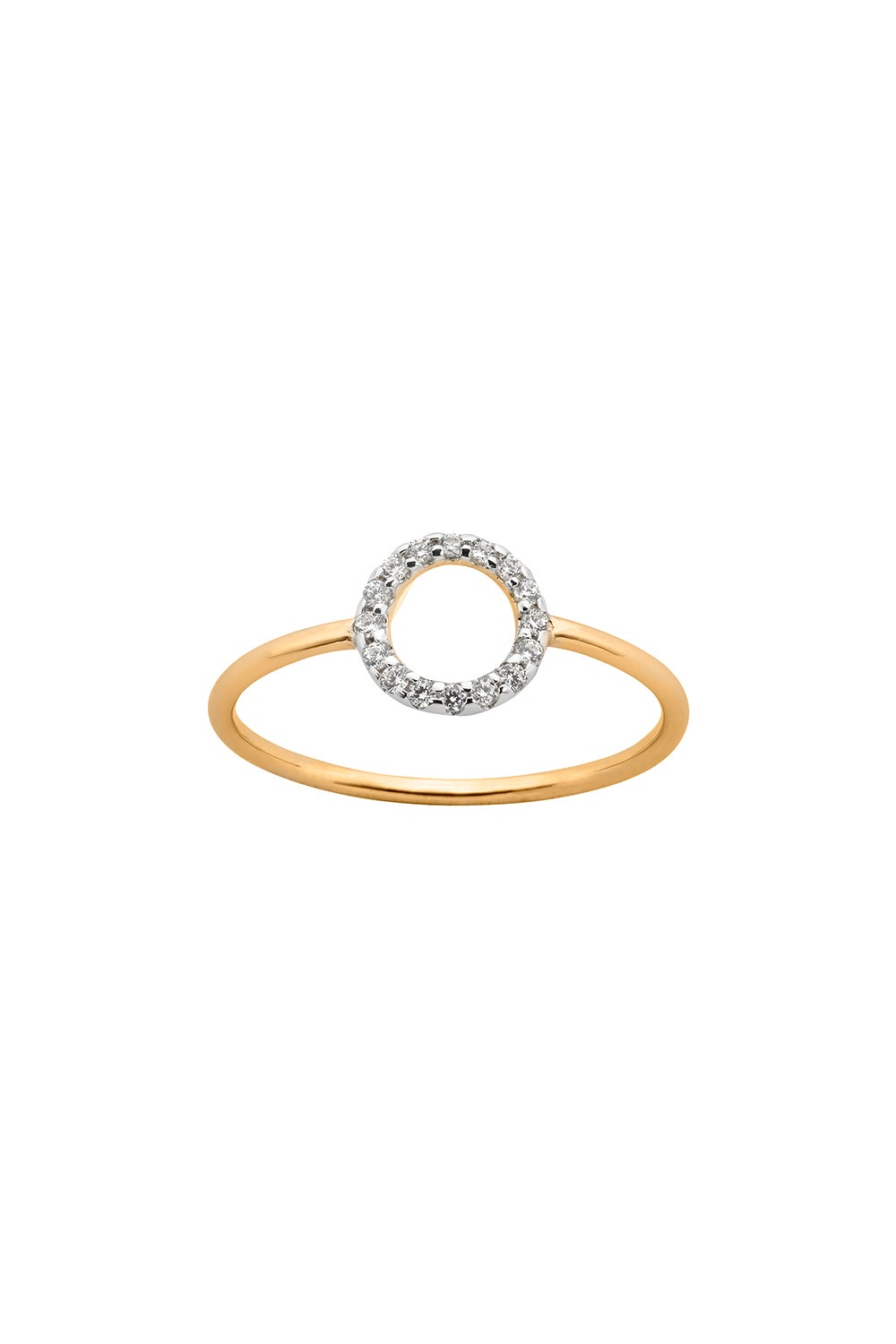 Orbit Diamond Ring, 9ct Gold, .11ct Diamond