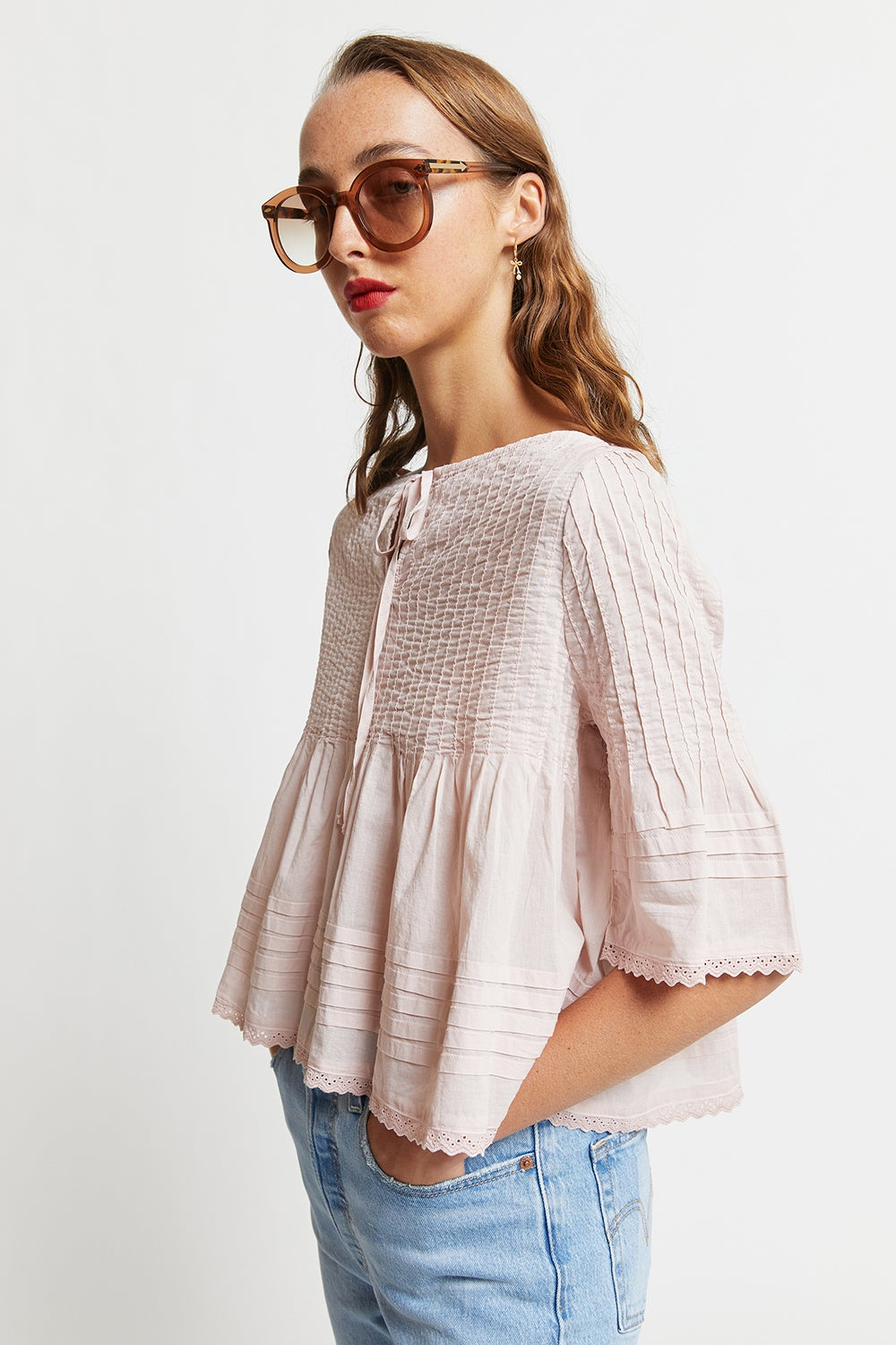 Organic Cotton Painterly Blouse
