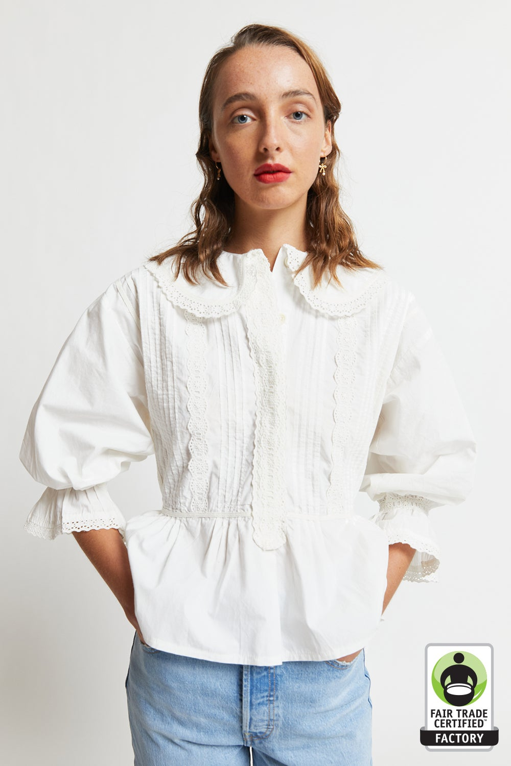 Organic Cotton Peter Blouse
