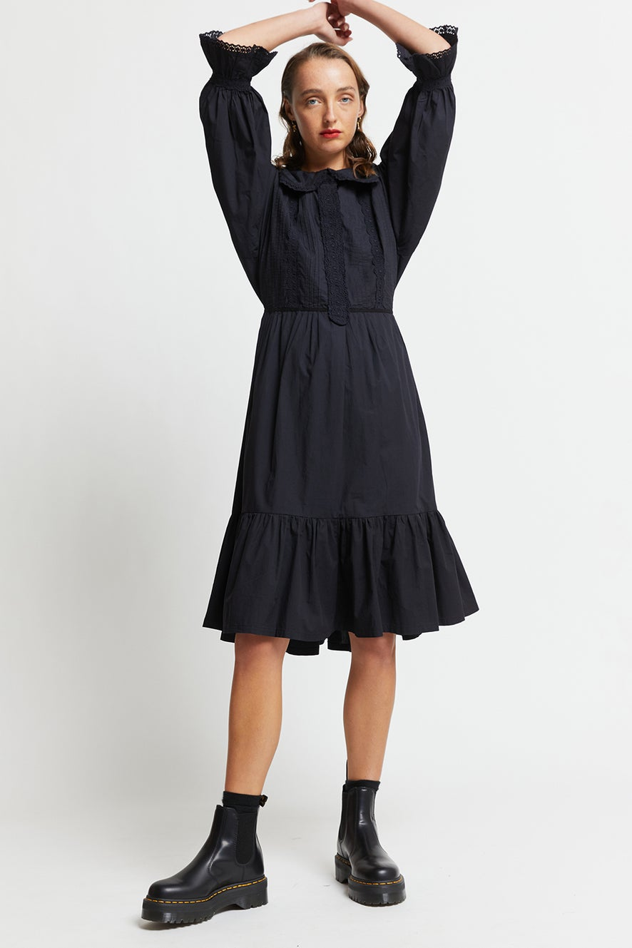 Organic Cotton Tiered Peter Dress