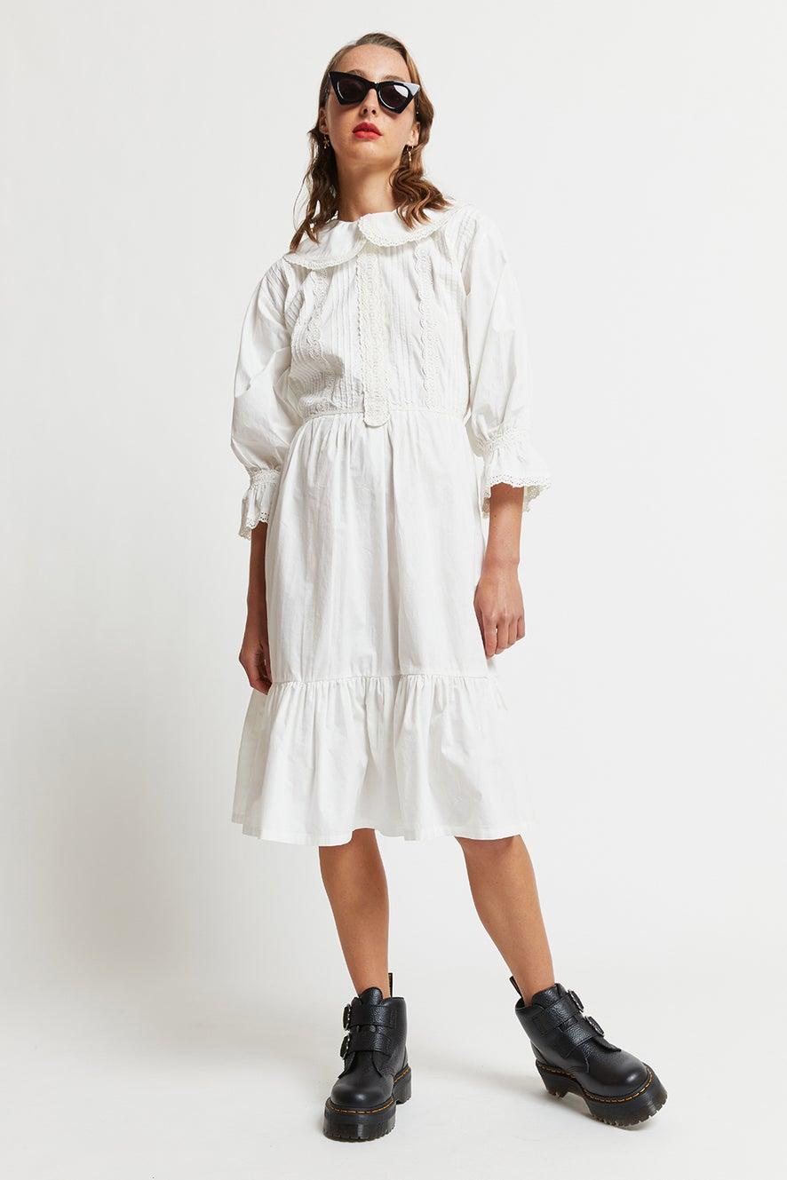Organic Cotton Tiered Peter Dress
