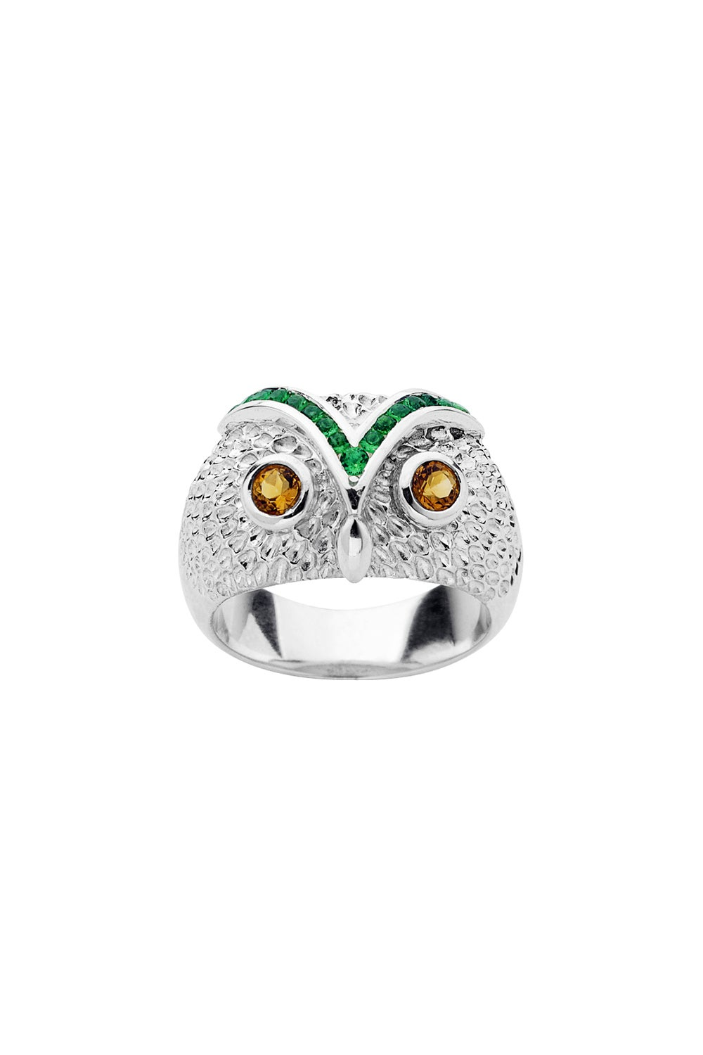 Owl Dome Ring Silver