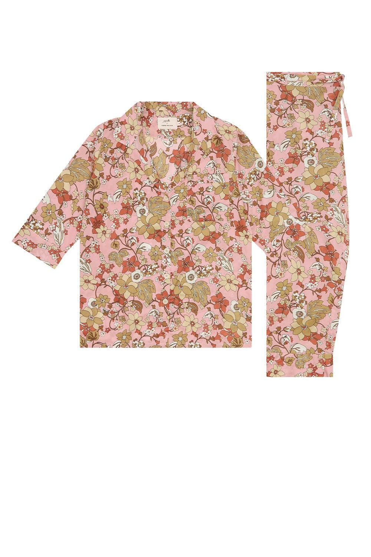 Papinelle x Karen Walker Garden Floral Crop PJ Misty Pink