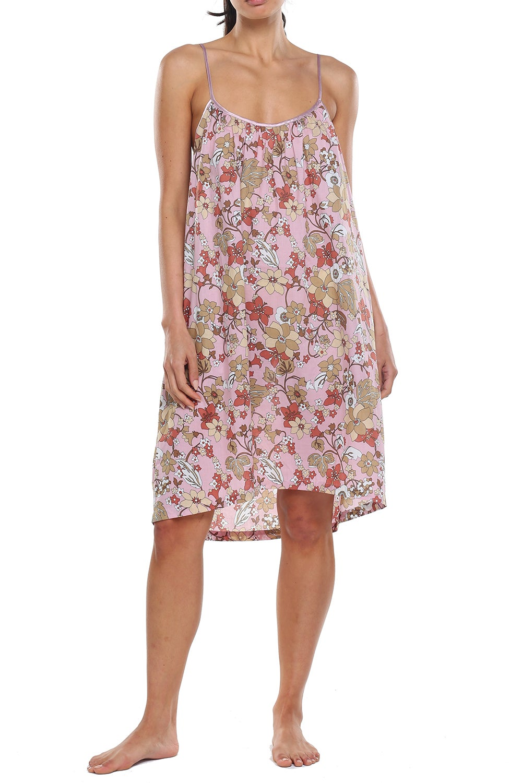 Papinelle x Karen Walker Garden Floral Strappy Nightie Misty Pink