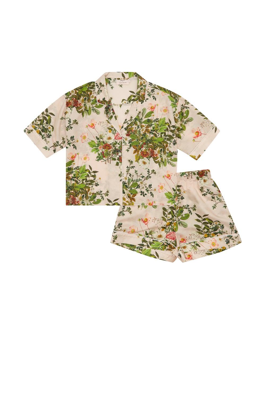 Papinelle x Karen Walker Love Letter Floral Crop Boxer PJ Shell