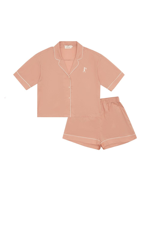 Papinelle x Karen Walker Runaway Girl Crop Boxer PJ Misty Pink