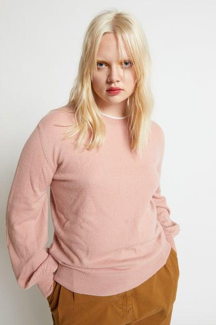 Pattie Bell Sleeve Cashmere Sweater