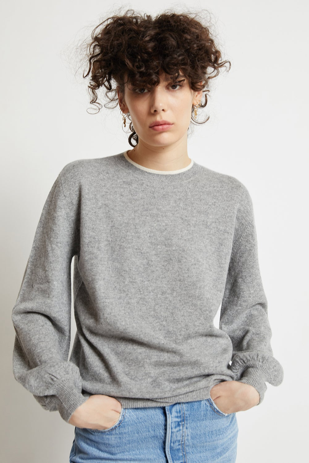 Pattie Bell Cashmere Sleeve Sweater