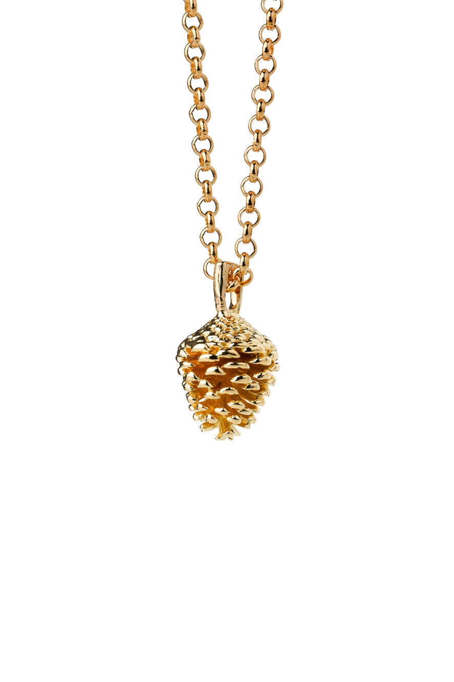 Pinecone Necklace Gold