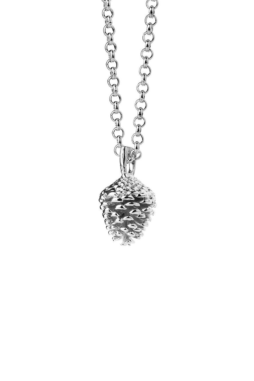 Pinecone Necklace Silver