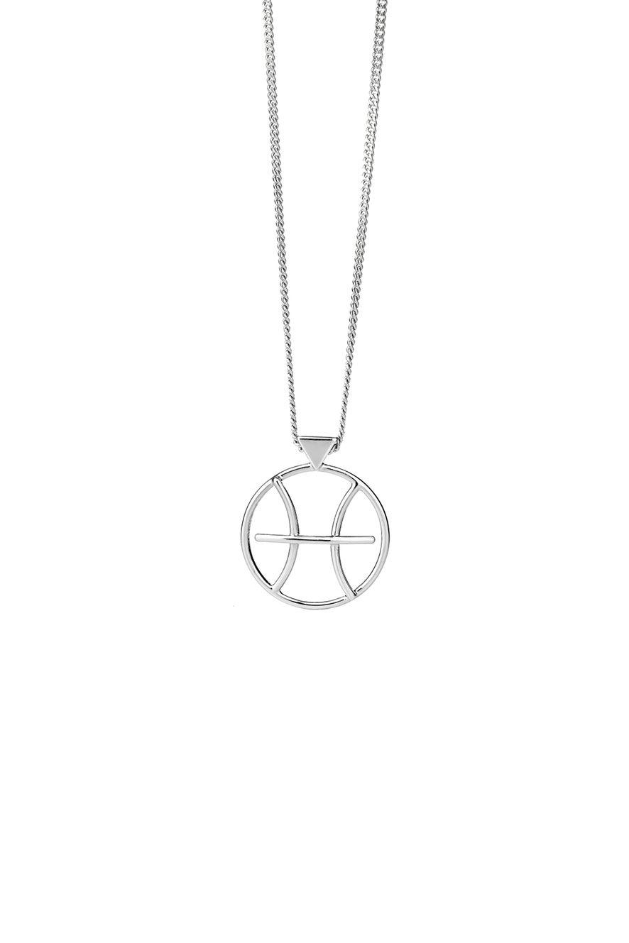 Pisces Necklace Silver