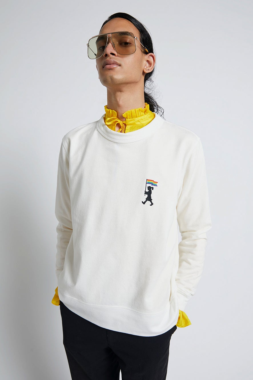 Pride Marching Girl Organic Cotton Sweatshirt