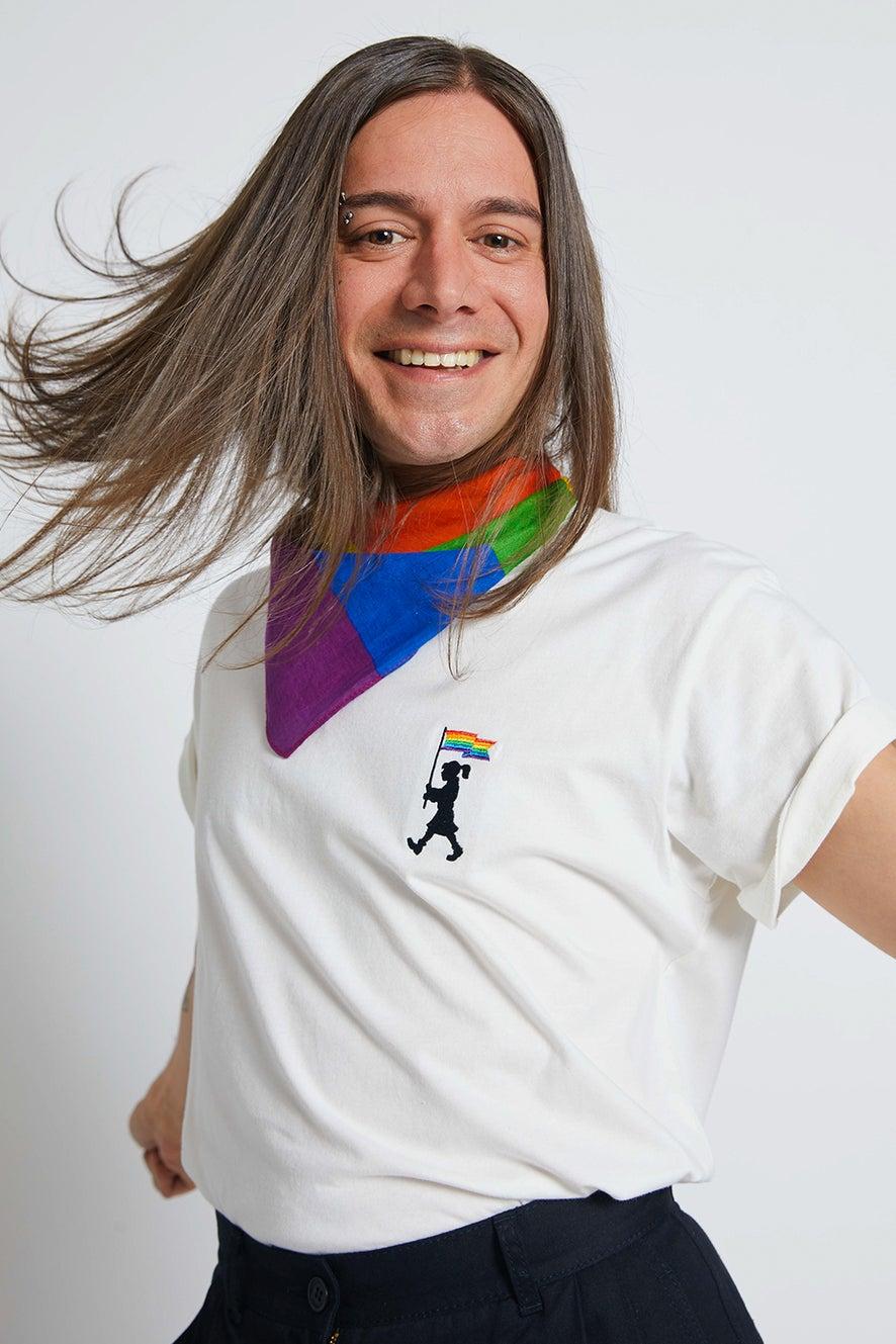 Pride Marching Girl Organic Cotton T-Shirt