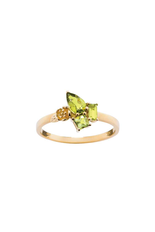 Rock Garden Mini Ring Gold & Peridot