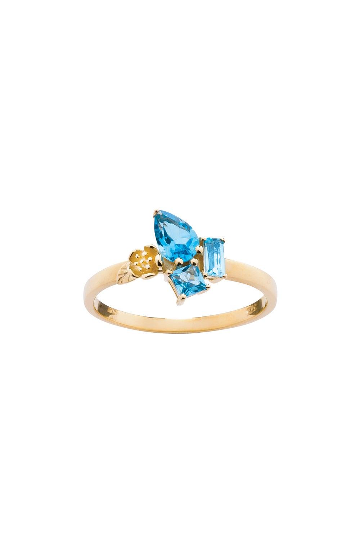 Rock Garden Mini Ring Gold & Topaz