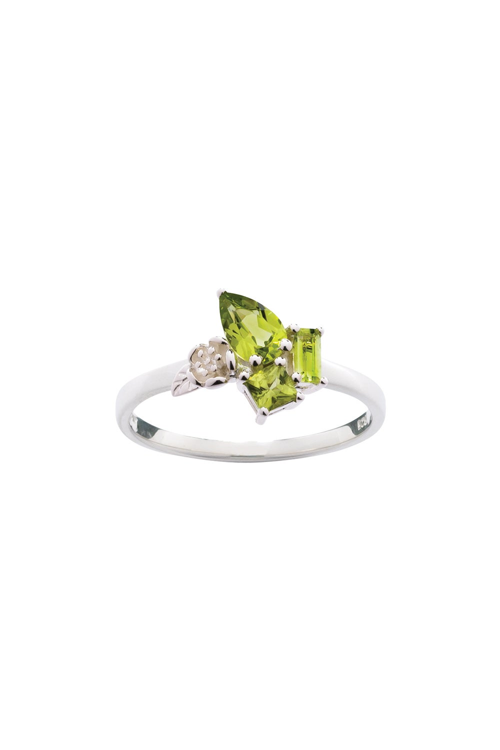 Rock Garden Mini Ring Silver & Peridot