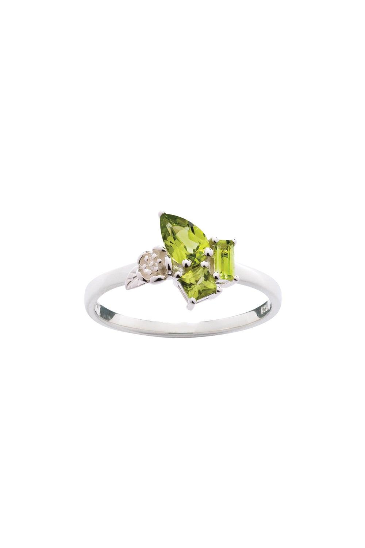 Rock Garden Mini Ring Silver & Peridot