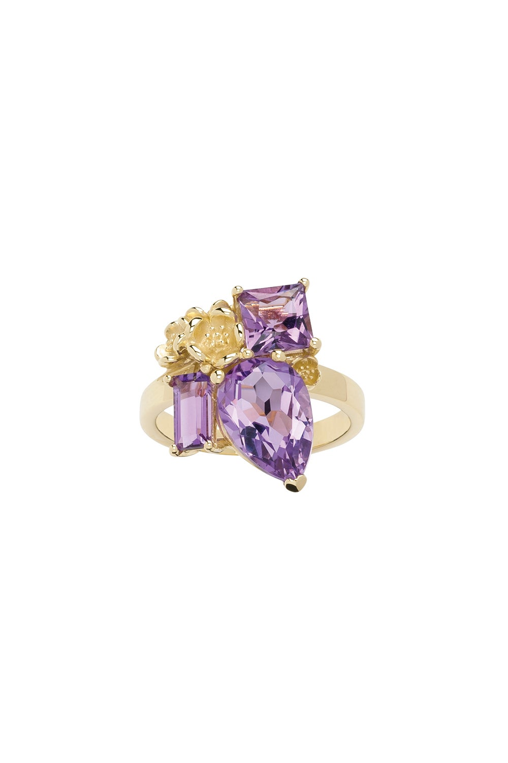 Rock Garden Ring Gold & Amethyst