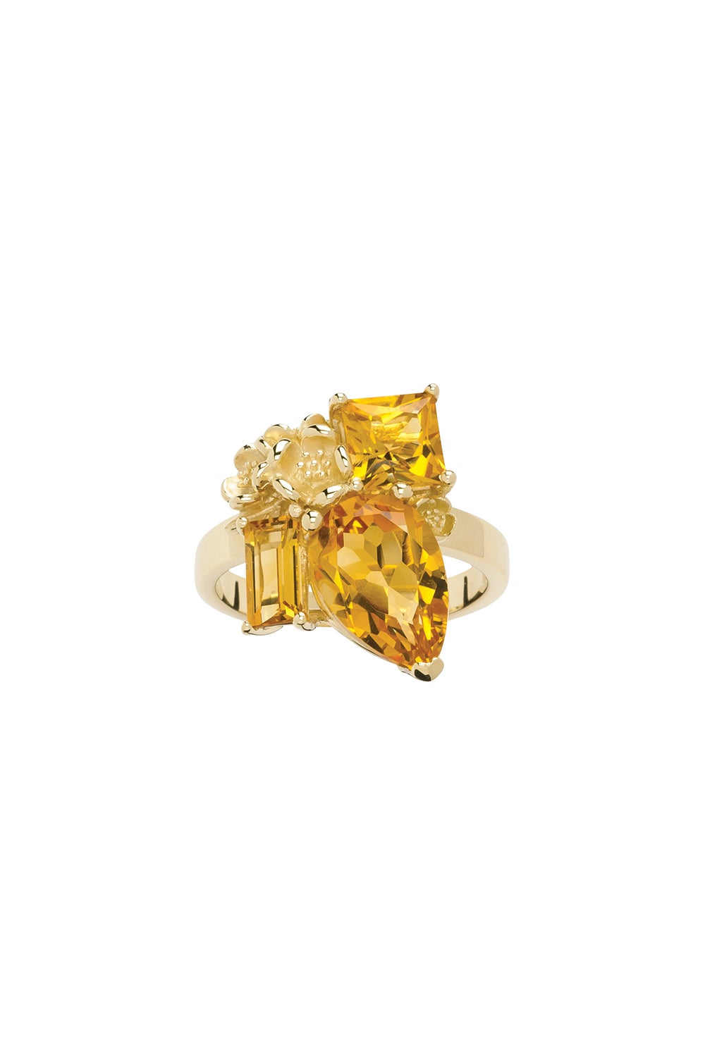 Rock Garden Ring Gold & Citrine